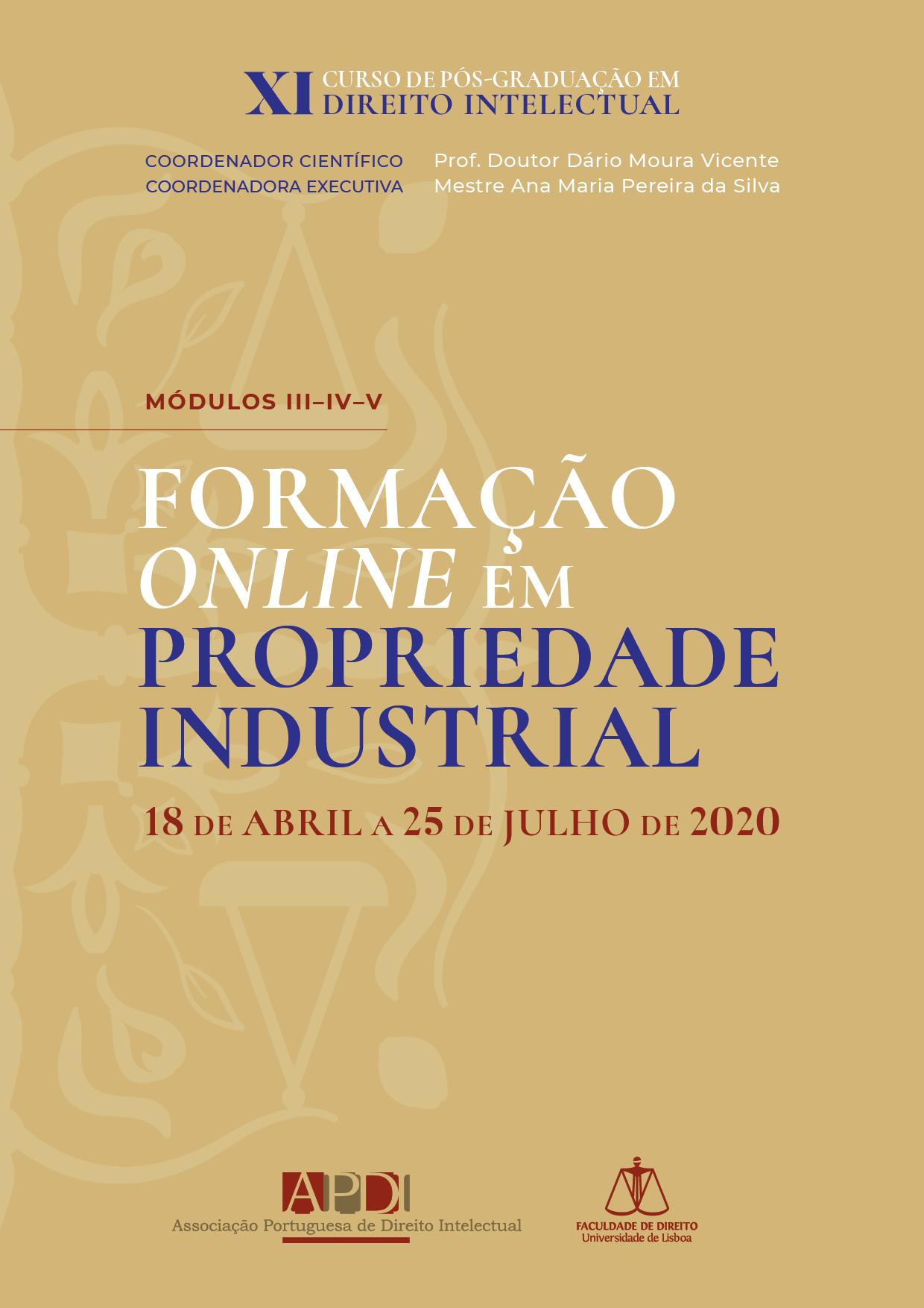 XI Curso de Pós-Graduação - Formação em Propriedade Industrial